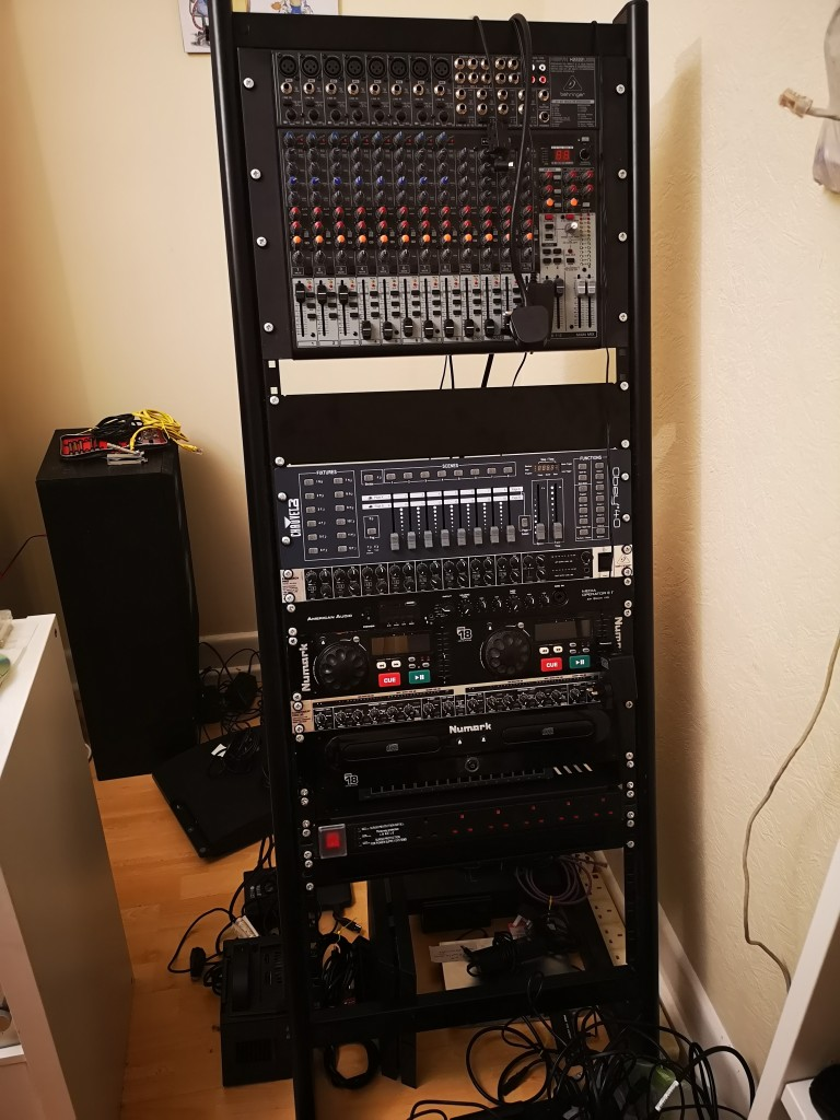 The main rack, all unplugged and ready for relocation, and upgrading.